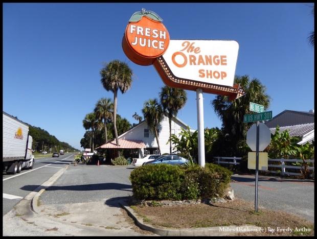 """Nach 870 km durch den """"Orangensstaat"""" Florida konnten wir heute zum ertsen mal frisch gepressten Orangensaft genossen."""