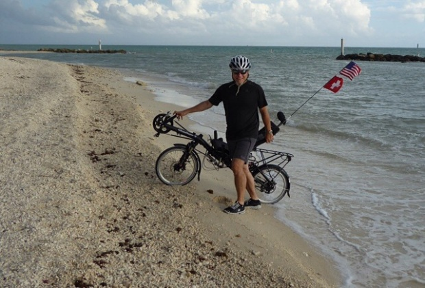 Weiter östlich kann die Radreisen nicht mehr starten.
