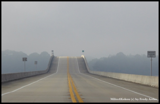 "Unsere ""Startrampe"" heute morgen: Brücke über die ""Ochlockonee Bay"""
