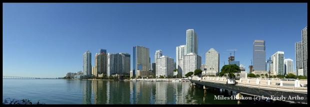 Panorama Downtown Miami (Tipp: Fotos zum vergrössern anklicken, anschliessend mit der Pfeiltaste zurück wieder zur ursprünglichen Blogansicht wechseln.)