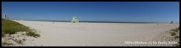 Beachpanorama: Das Schwimmen haben wir  heute noch verschoben, aber das kommt schon bald.
