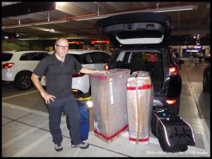 All unser Gepäck hatte im Mietwagen platz!