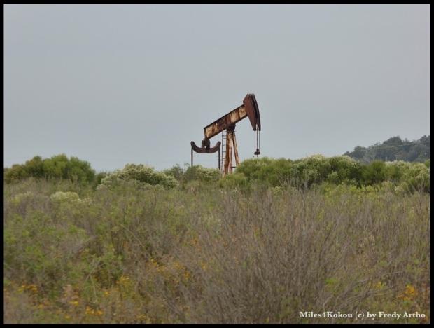 Gleich nebenan wird Öl gefördert.