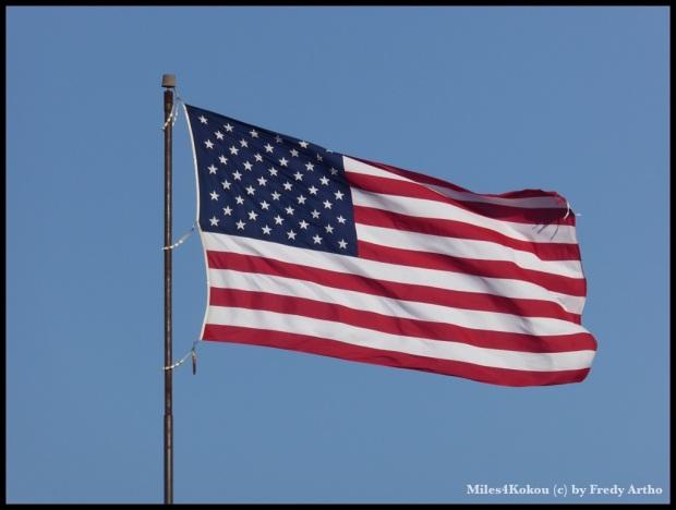 """Heute konnten sie wieder mal """"Flagge zeigen""""."""