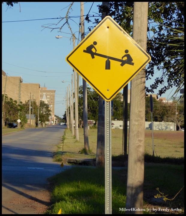 Wir haben in Pensacola noch ein neues Strassenschild kennen gelernt.