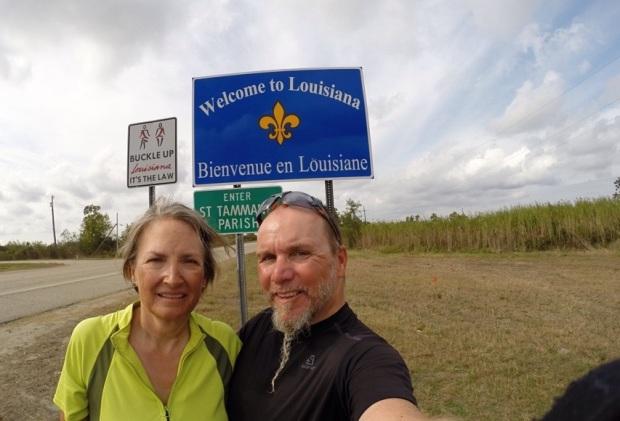 Tatsächlich, wir stehen an der Grenze zu Louisiana!