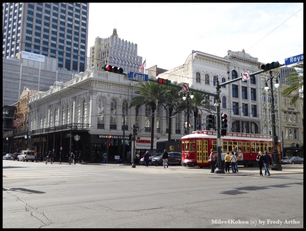 Canal Street in New Orleans.
