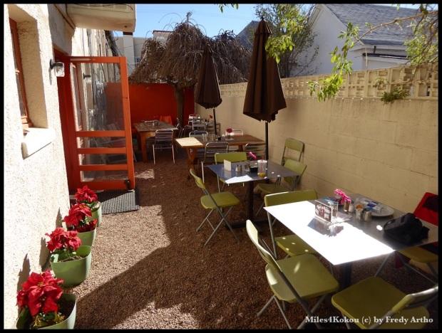 Gemütliches Gartencafe