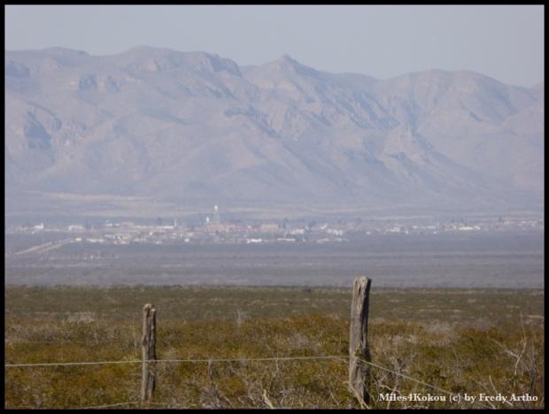 Blick auf Van Horn aus 16 km Entfernung!
