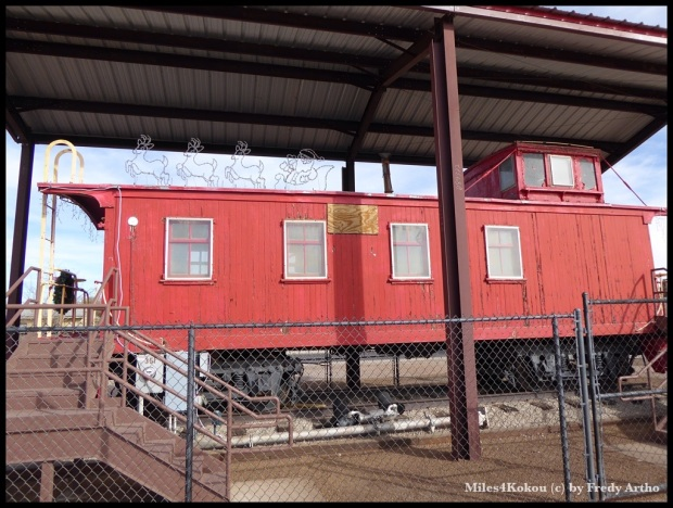 """Das Eisenbahnmuseum war eher mässig. Dieser """"Schlusswagen"""" war das Prunkstück."""