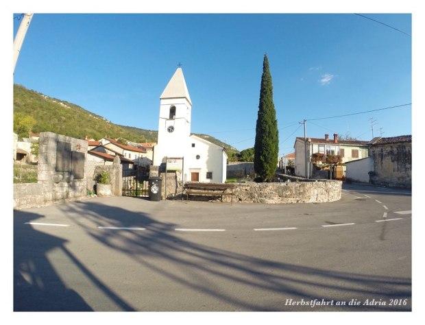 Typisches Dorf im gebirgigen Herzen von Istrien