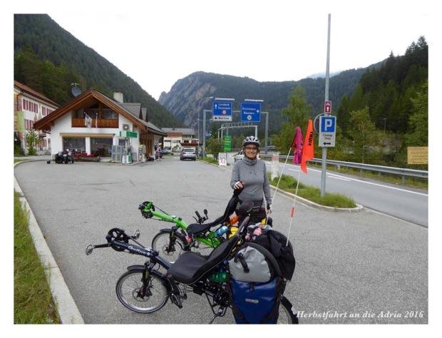Erste Grenzüberfahrt nach Österreich