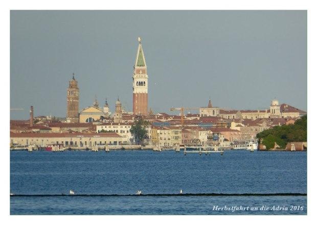 Blick vom Camping nach Venedig. (Ok, mit Zoom fotografiert)