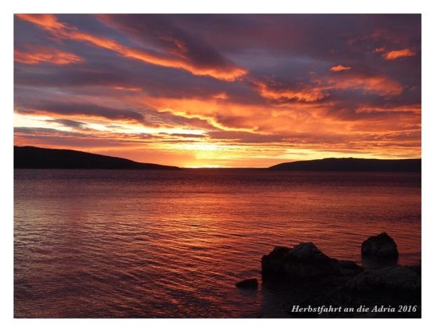 Am letzten Abend nochmals ein richtig spektakulärer Sonnenuntergang
